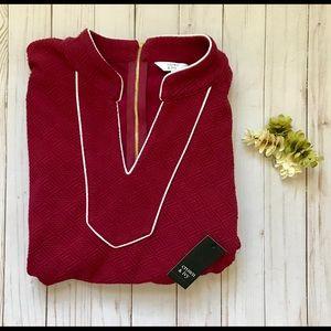 Crown & ivy Blouse 👑 Back Gold Zip Detail / XL